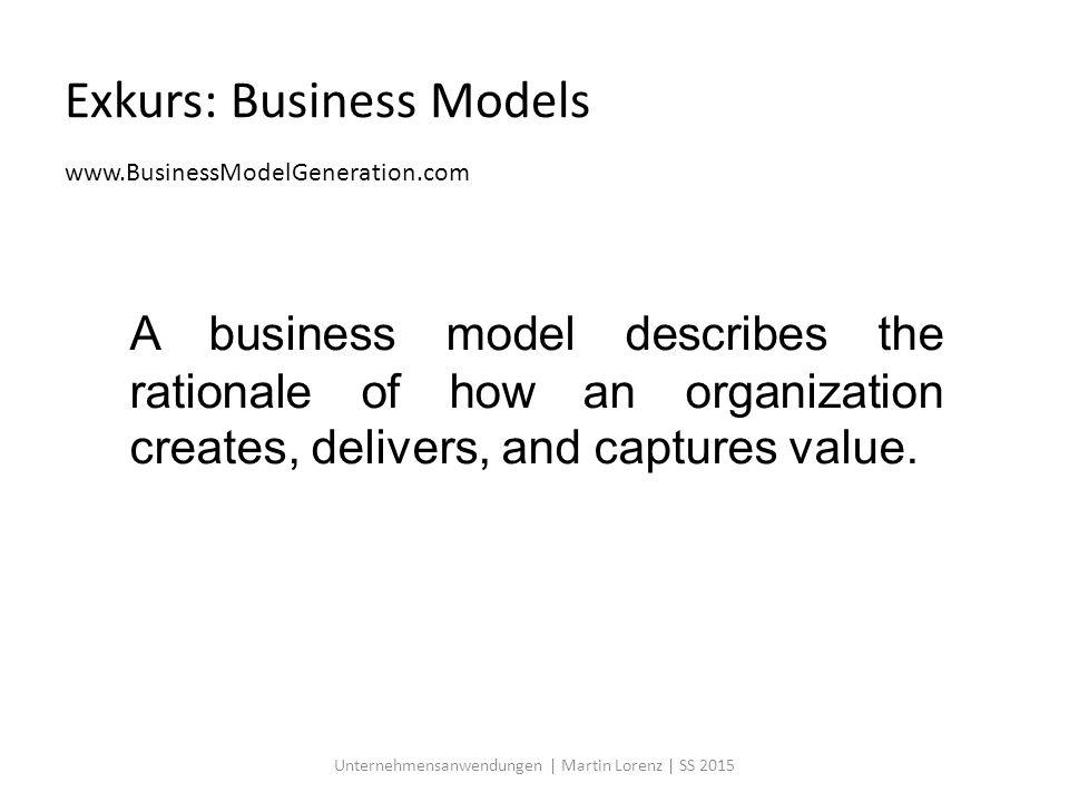 Customer Segments Unternehmensanwendungen | Martin Lorenz | SS 2015
