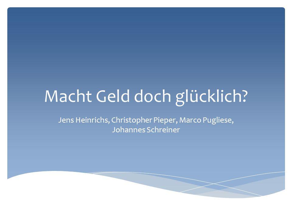  Joachim Weimann  Das große Los  Glück des Tüchtigen  Warum Geld doch glücklich macht  Zu viel Geld macht unglücklich  Geldsegen durch Lottogewinne  Geldsorgen machen unglücklich  Unsere MEINUNG Inhaltsverzeichnis