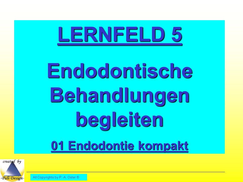 All Copyrights by P.-A. Oster ® LERNFELD 5 Endodontische Behandlungen begleiten 01 Endodontie kompakt