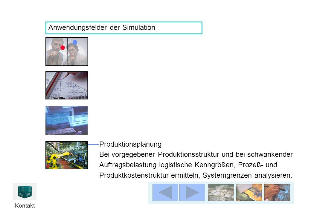 Kontakt Produktionsplanung Bei vorgegebener Produktionsstruktur und bei schwankender Auftragsbelastung logistische Kenngrößen, Prozeß- und Produktkost