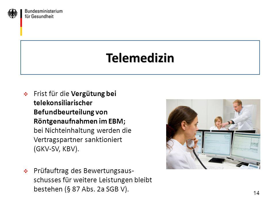 14  Frist für die Vergütung bei telekonsiliarischer Befundbeurteilung von Röntgenaufnahmen im EBM; bei Nichteinhaltung werden die Vertragspartner san