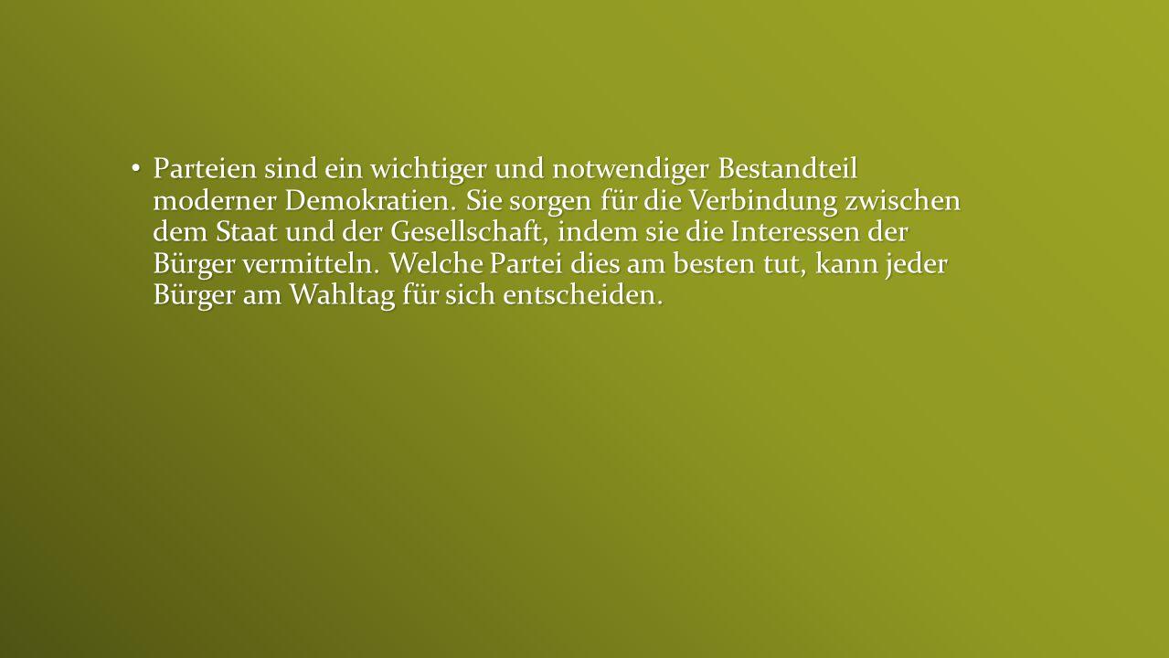 Beispiele für Parteien, die nicht im Bundestag vertreten sind: