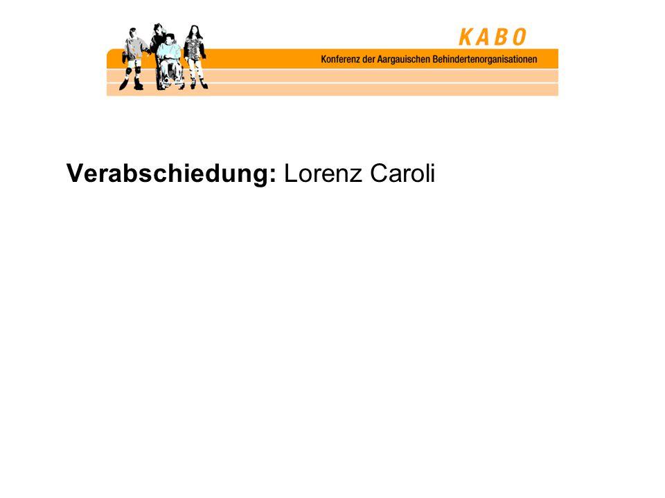 Verabschiedung: Lorenz Caroli