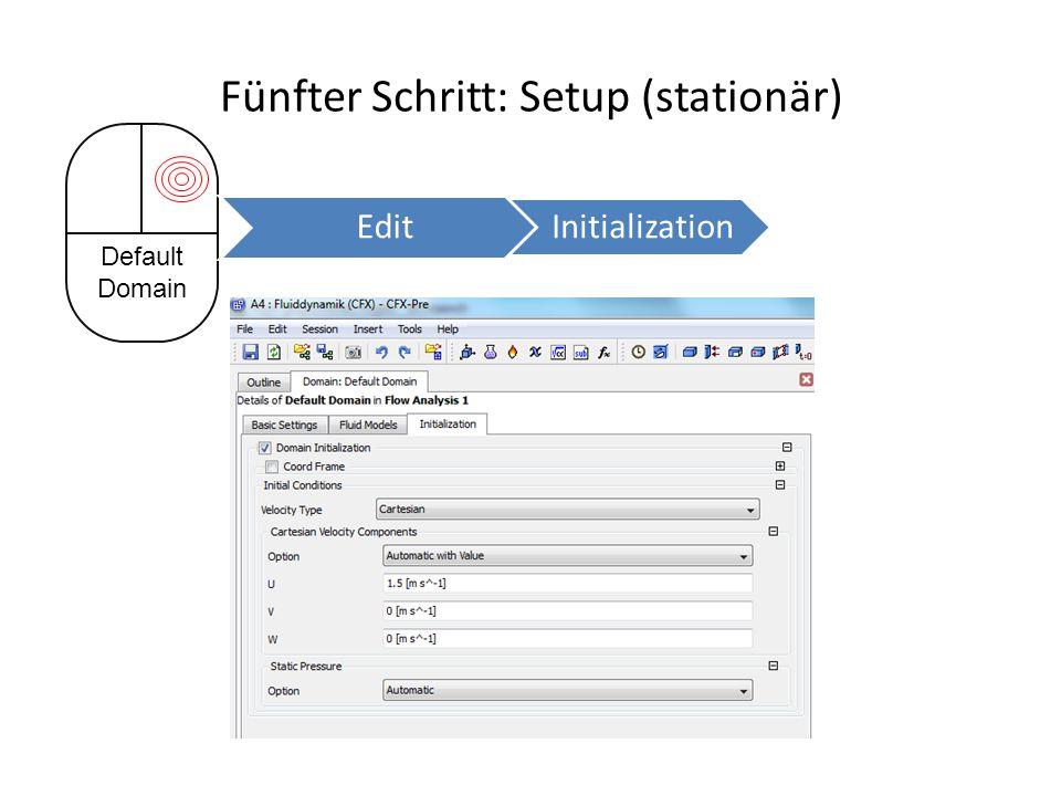 Fünfter Schritt: Setup (stationär) Default Domain Edit Initialization