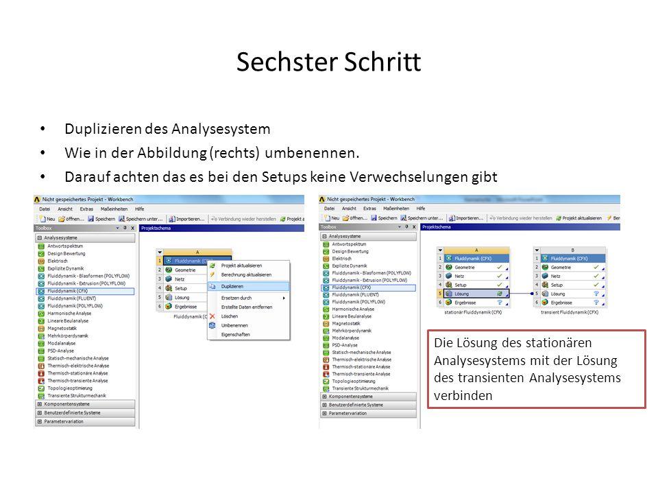 Sechster Schritt Duplizieren des Analysesystem Wie in der Abbildung (rechts) umbenennen. Darauf achten das es bei den Setups keine Verwechselungen gib