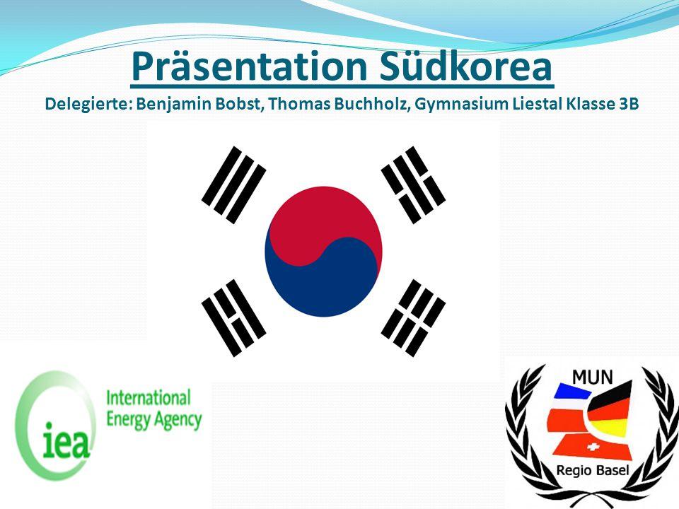 Präsentation Südkorea Delegierte: Benjamin Bobst, Thomas Buchholz, Gymnasium Liestal Klasse 3B