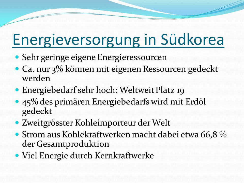 Verbesserungsansätze der Energieversorgung Zu hohe CO2-Emissionenen: Kyoto- Protokoll unterzeichnet Zu wenig erneuerbare Energien: Wasserkraft bzw.