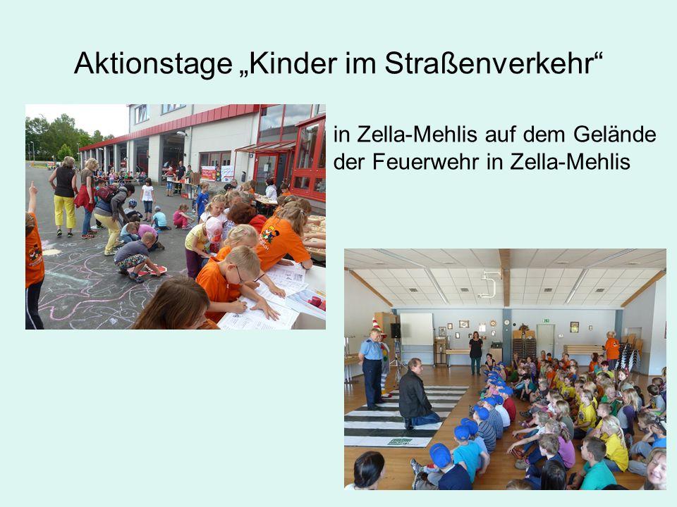 """Aktionstage """"Kinder im Straßenverkehr in Zella-Mehlis auf dem Gelände der Feuerwehr in Zella-Mehlis"""