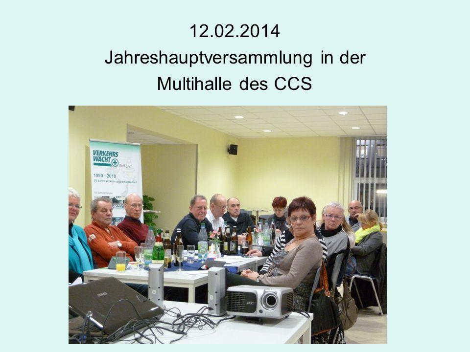 12.02.2014 Jahreshauptversammlung in der Multihalle des CCS