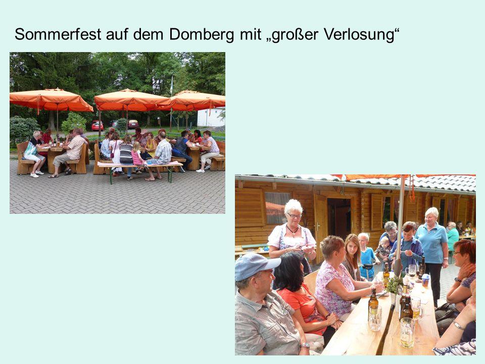 """Sommerfest auf dem Domberg mit """"großer Verlosung"""
