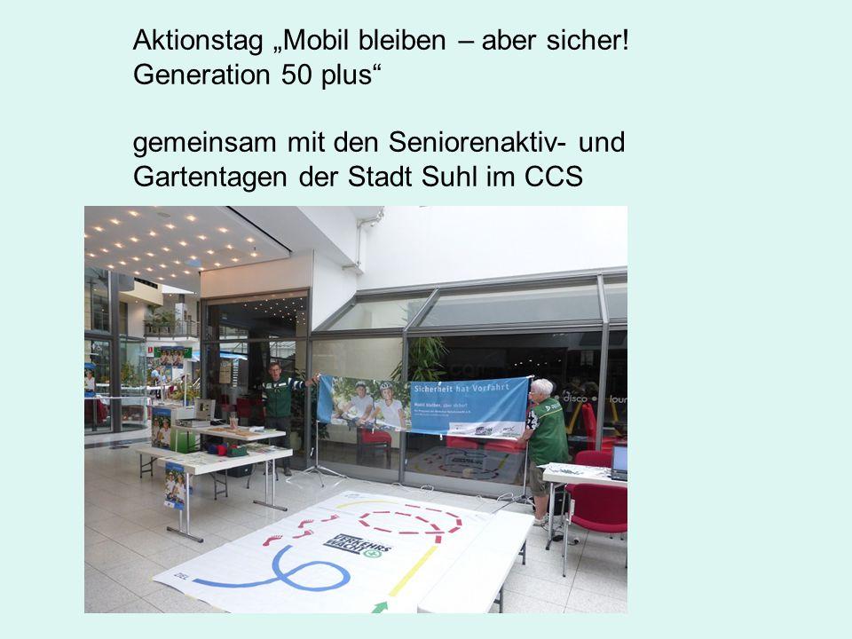 """Aktionstag """"Mobil bleiben – aber sicher."""