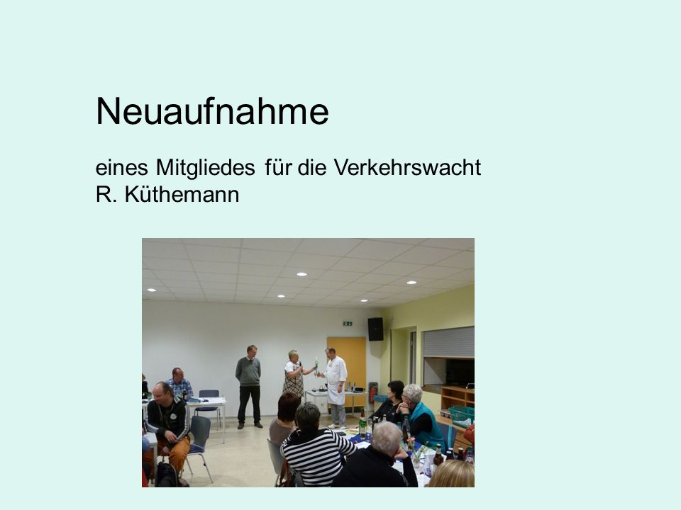 Ehrenamtspass für Frau Reinhardt am 12.02.2015 Herr Egen hielt die Laudatio