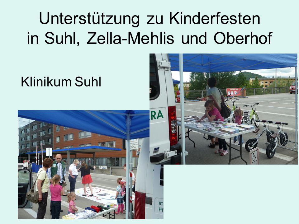 Unterstützung zu Kinderfesten in Suhl, Zella-Mehlis und Oberhof Klinikum Suhl