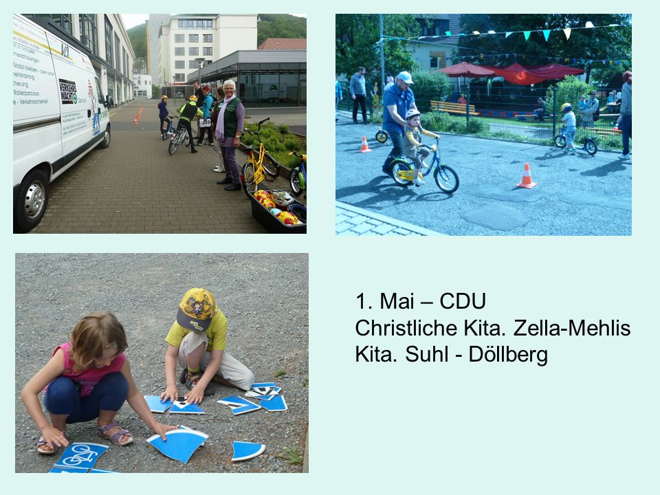 1.Mai – CDU Christliche Kita. Zella-Mehlis Kita. Suhl - Döllberg