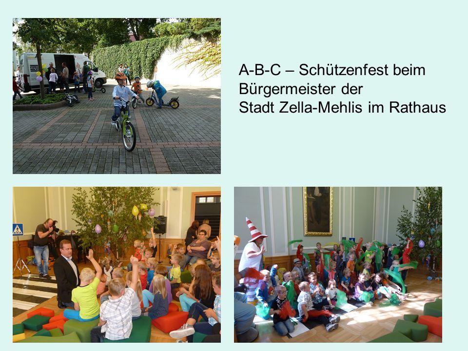 A-B-C – Schützenfest beim Bürgermeister der Stadt Zella-Mehlis im Rathaus