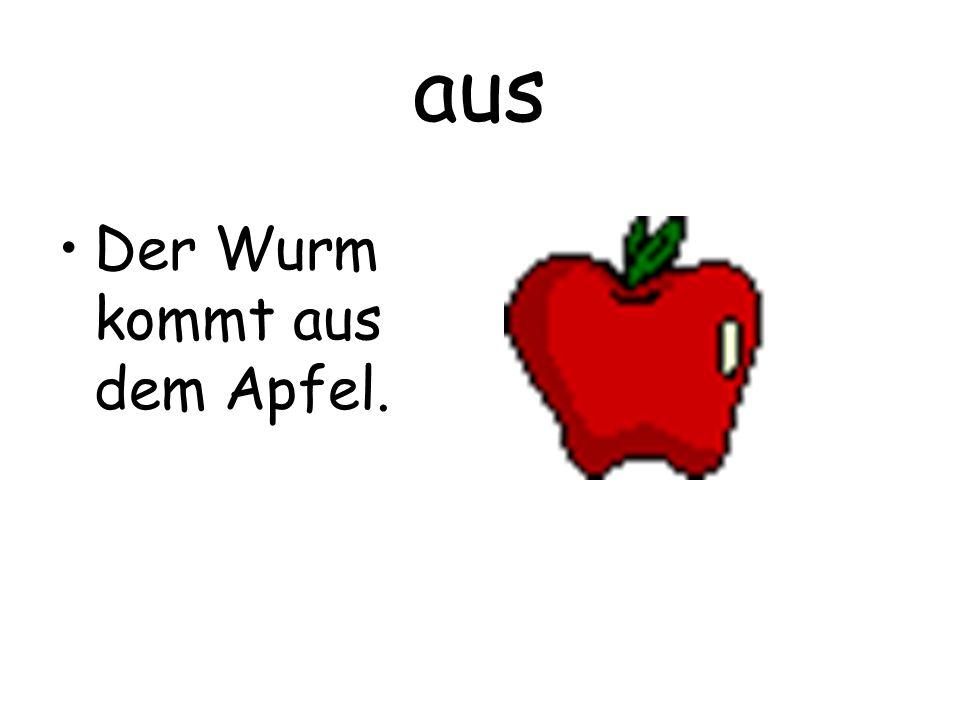 aus Der Wurm kommt aus dem Apfel.