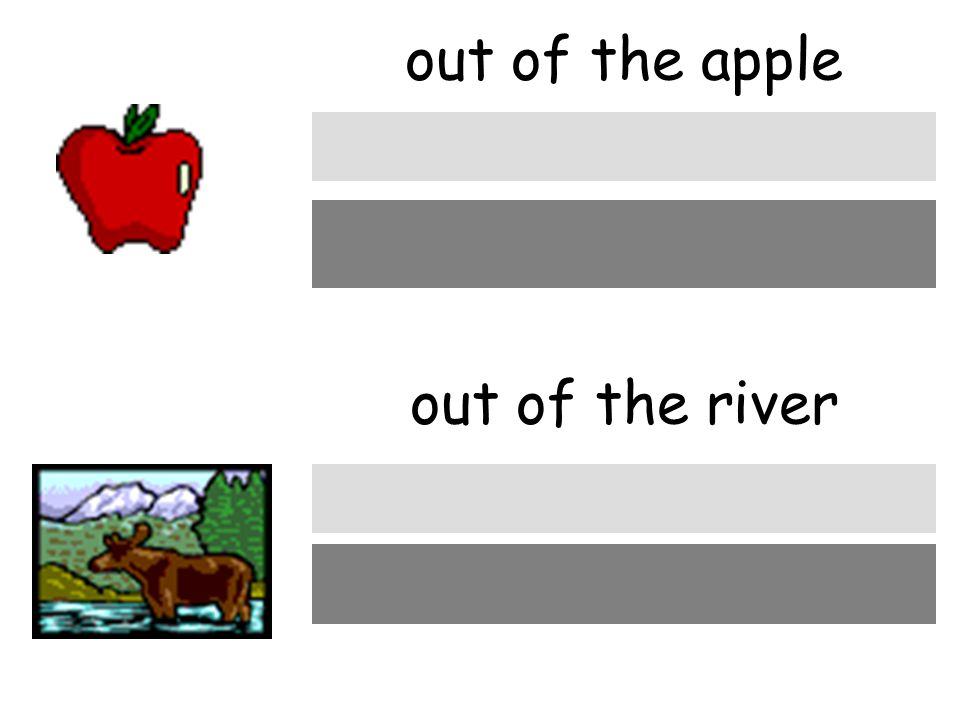 out of the apple out of the river aus dem Apfel aus dem Fluβ