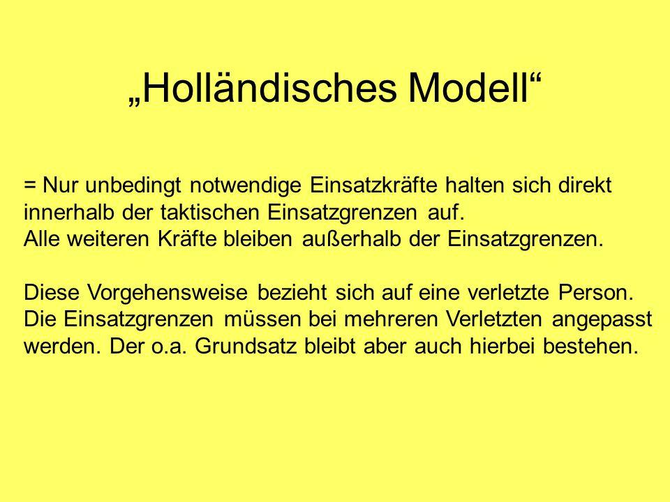 """""""Holländisches Modell"""" = Nur unbedingt notwendige Einsatzkräfte halten sich direkt innerhalb der taktischen Einsatzgrenzen auf. Alle weiteren Kräfte b"""