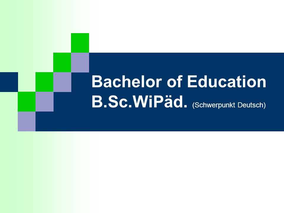 Bachelor of Education B.Sc.WiPäd. (Schwerpunkt Deutsch)