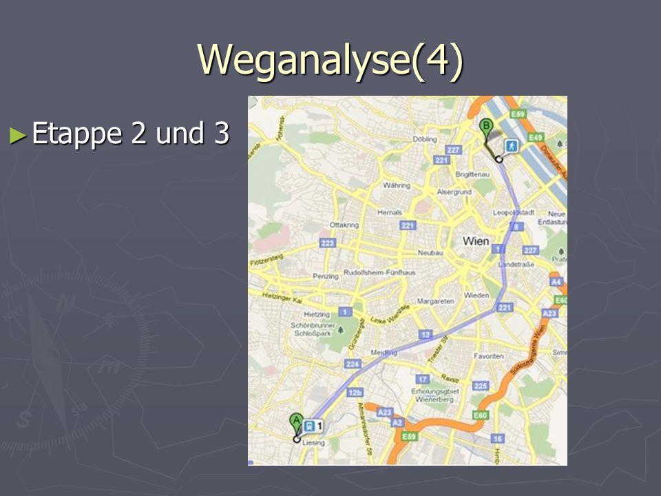 Weganalyse(4) ► Etappe 2 und 3