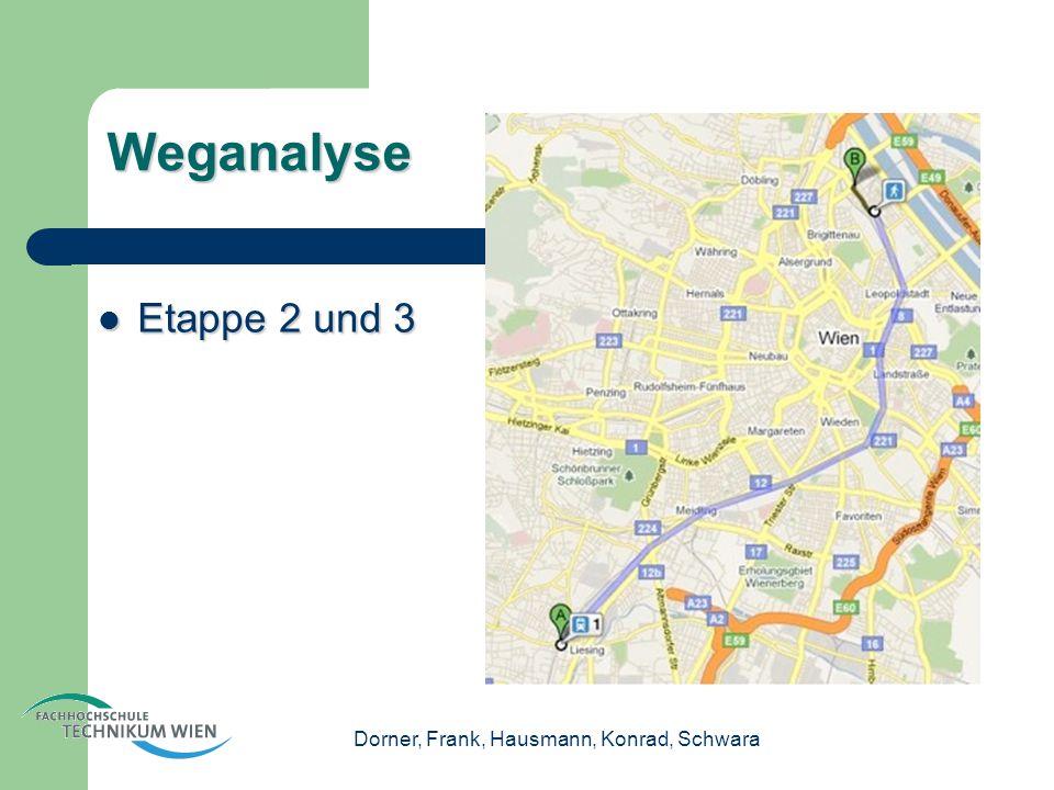 Dorner, Frank, Hausmann, Konrad, Schwara Weganalyse Etappe 2 und 3 Etappe 2 und 3