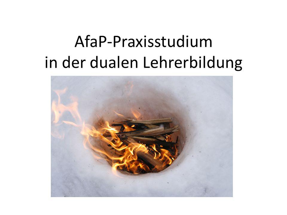 AfaP-Praxisstudium in der dualen Lehrerbildung