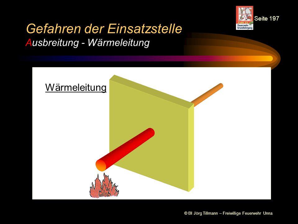 © BI Jörg Tillmann – Freiwillige Feuerwehr Unna Gefahren der Einsatzstelle Ausbreitung Ausbreitung des Feuers auf benachbarte Räume / Wohnungen Ausbreitung von Rauch