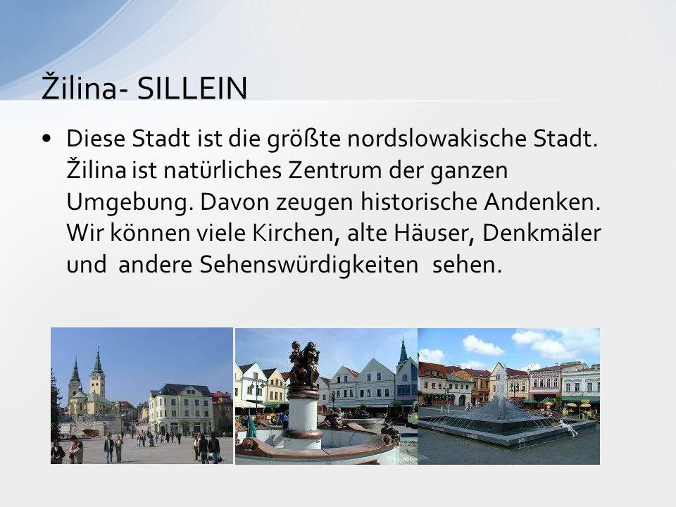 Diese Stadt ist die größte nordslowakische Stadt. Žilina ist natürliches Zentrum der ganzen Umgebung. Davon zeugen historische Andenken. Wir können vi