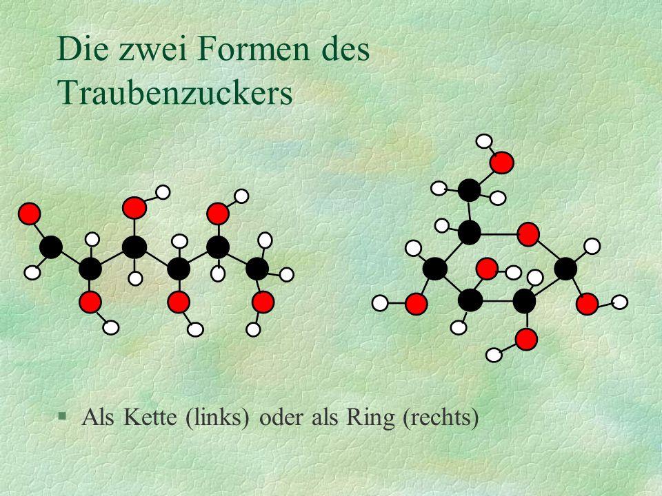 Traubenzuckermoleküle können Ketten bilden......