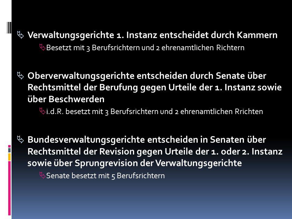  Verwaltungsgerichte 1.