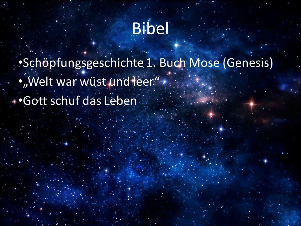 """Bibel Schöpfungsgeschichte 1. Buch Mose (Genesis) """"Welt war wüst und leer"""" Gott schuf das Leben"""