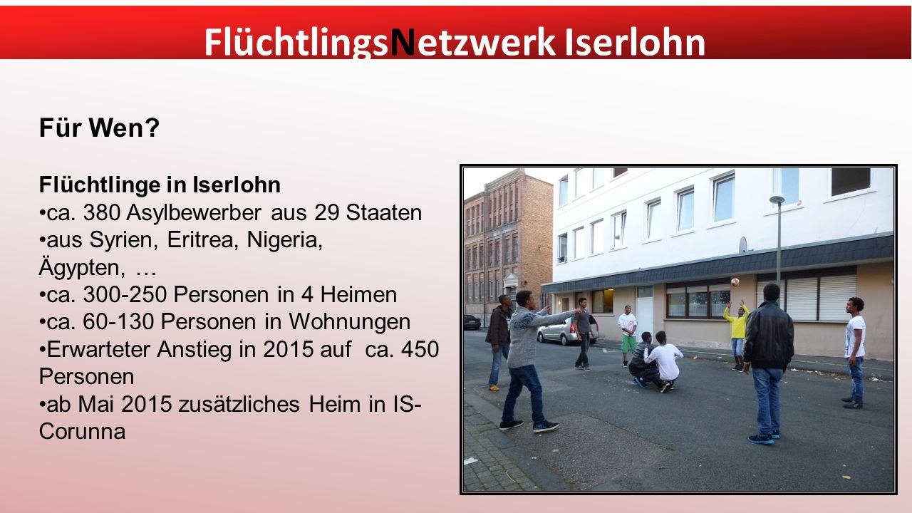 FlüchtlingsNetzwerk Iserlohn Für Wen.Flüchtlinge in Iserlohn ca.