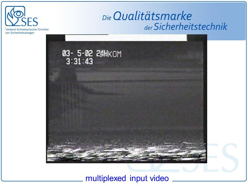 multiplexed input video
