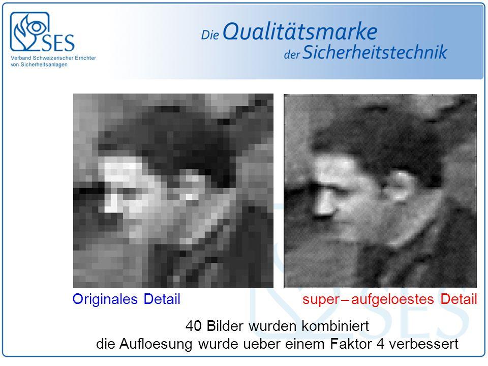 Originales Detail super – aufgeloestes Detail 40 Bilder wurden kombiniert die Aufloesung wurde ueber einem Faktor 4 verbessert