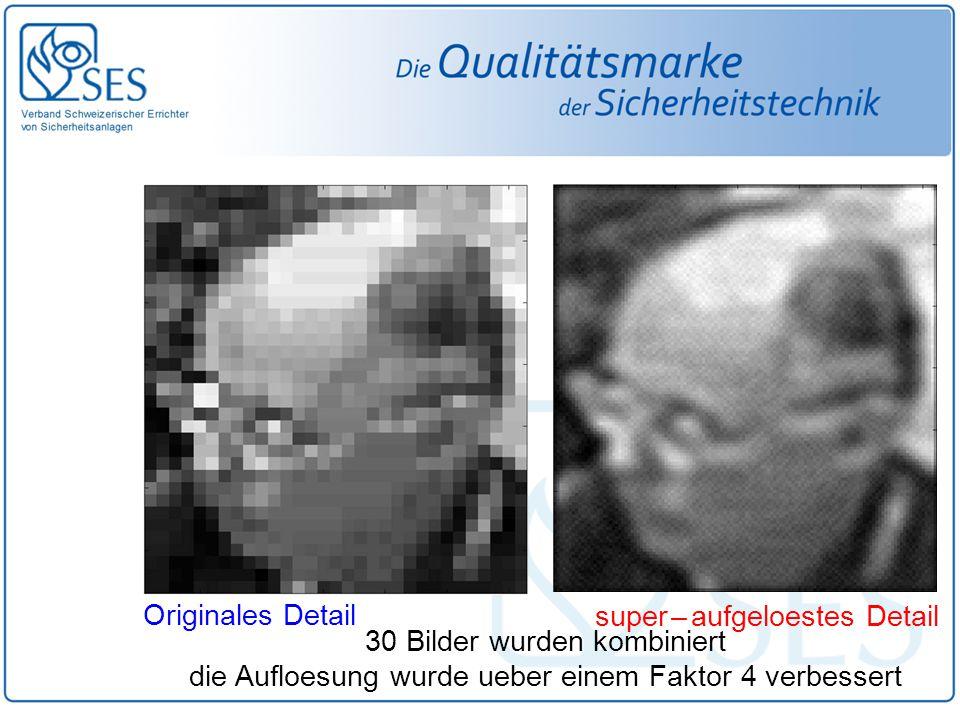 super – aufgeloestes Detail Originales Detail 30 Bilder wurden kombiniert die Aufloesung wurde ueber einem Faktor 4 verbessert