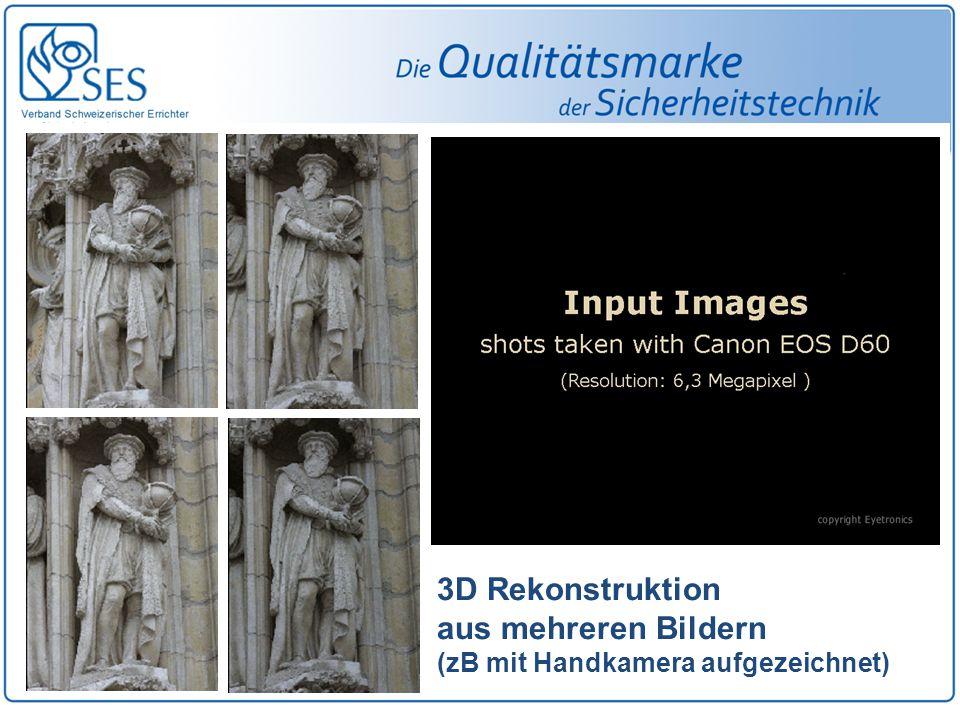 3D Rekonstruktion aus mehreren Bildern (zB mit Handkamera aufgezeichnet)