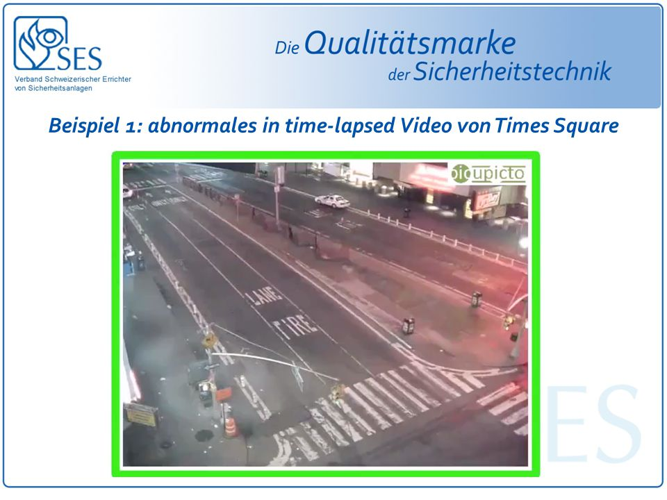 Beispiel 1: abnormales in time-lapsed Video von Times Square