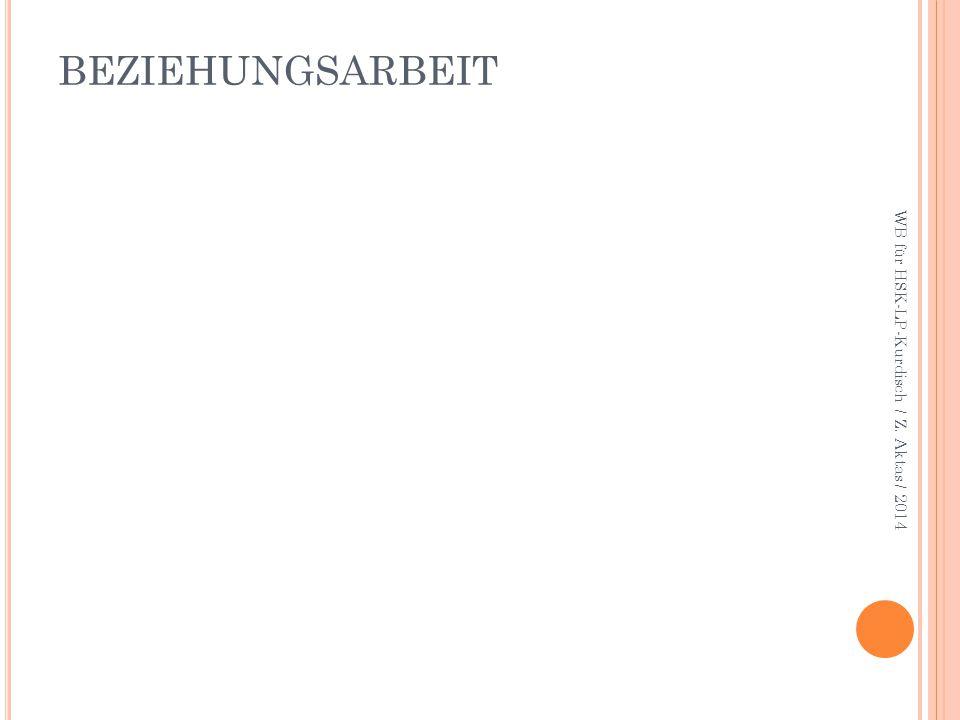 BEZIEHUNGSARBEIT WB für HSK-LP-Kurdisch / Z. Aktas / 2014