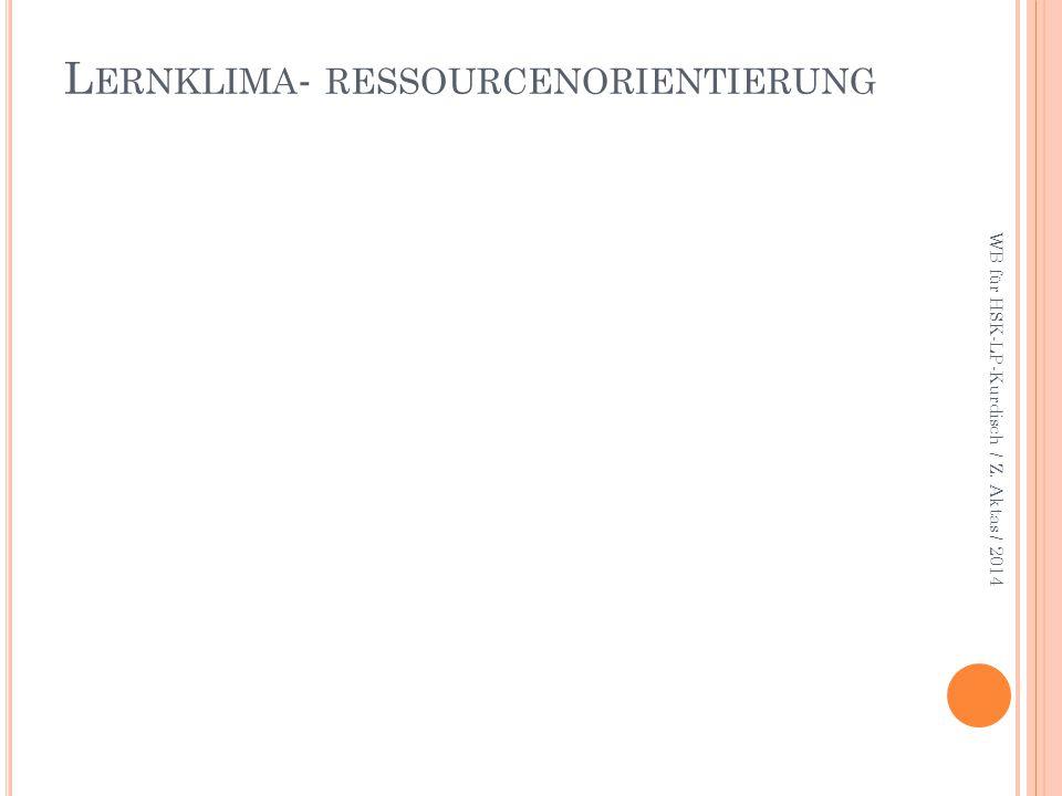 LERNKULTUR-SCHWUNGVOLLER, HERUASFORDERNDER UNTERRICHT WB für HSK-LP-Kurdisch / Z. Aktas / 2014