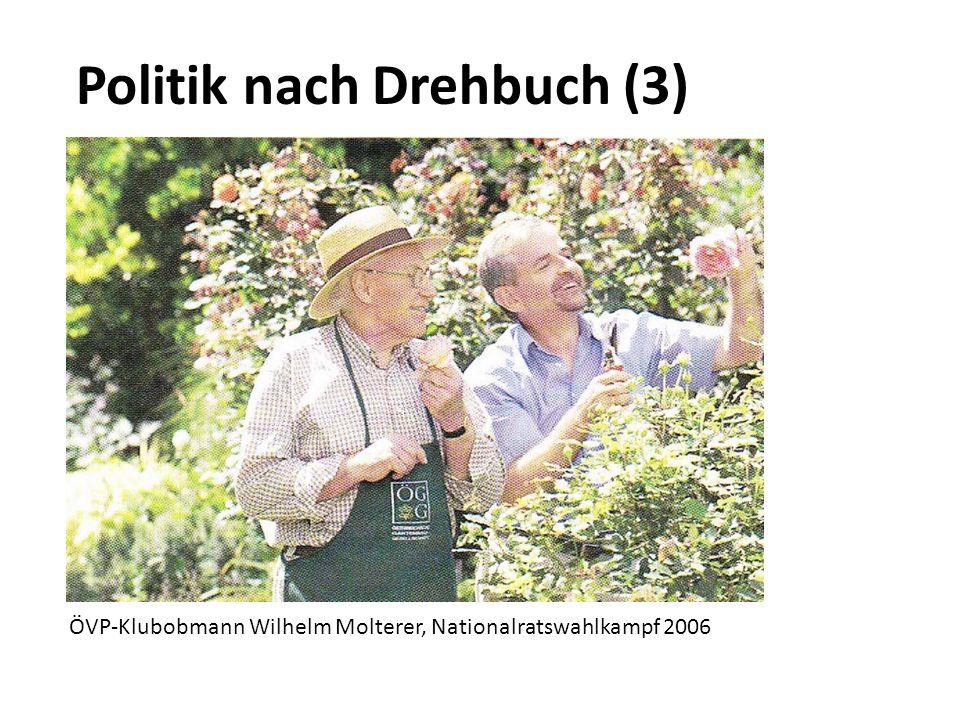 Politik nach Drehbuch (3) ÖVP-Klubobmann Wilhelm Molterer, Nationalratswahlkampf 2006