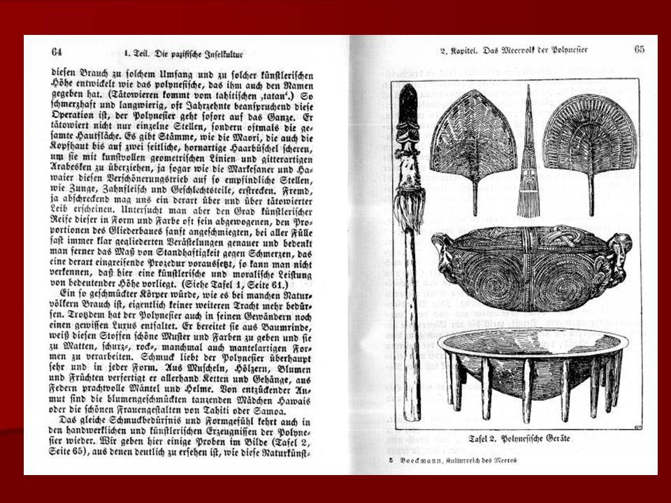 Polynesiische Mystik (Schöpfungsmythos) Kurt von Böckmann lässt hier einige gekürzte Stropfen in der Übersetzung von Adolf Bastian folgen.