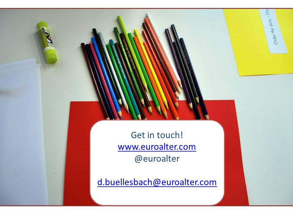 Get in touch! www.euroalter.com @euroalter d.buellesbach@euroalter.com