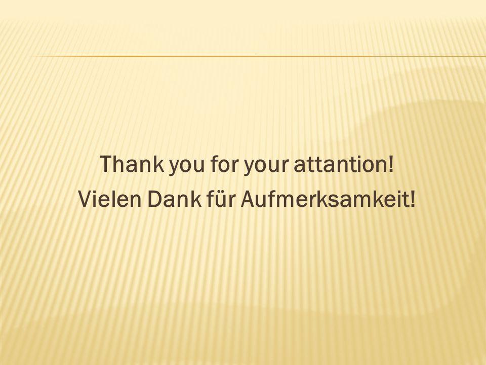 Thank you for your attantion! Vielen Dank für Aufmerksamkeit!