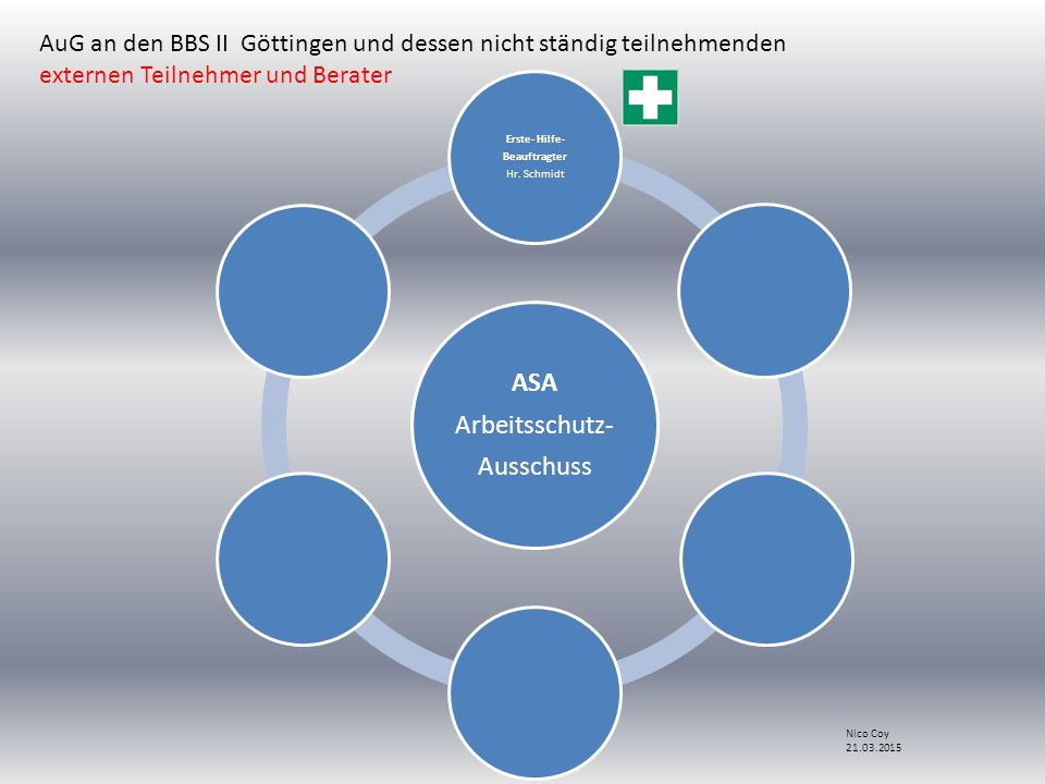 ASA Arbeitsschutz- Ausschuss Erste- Hilfe- Beauftragter Hr.