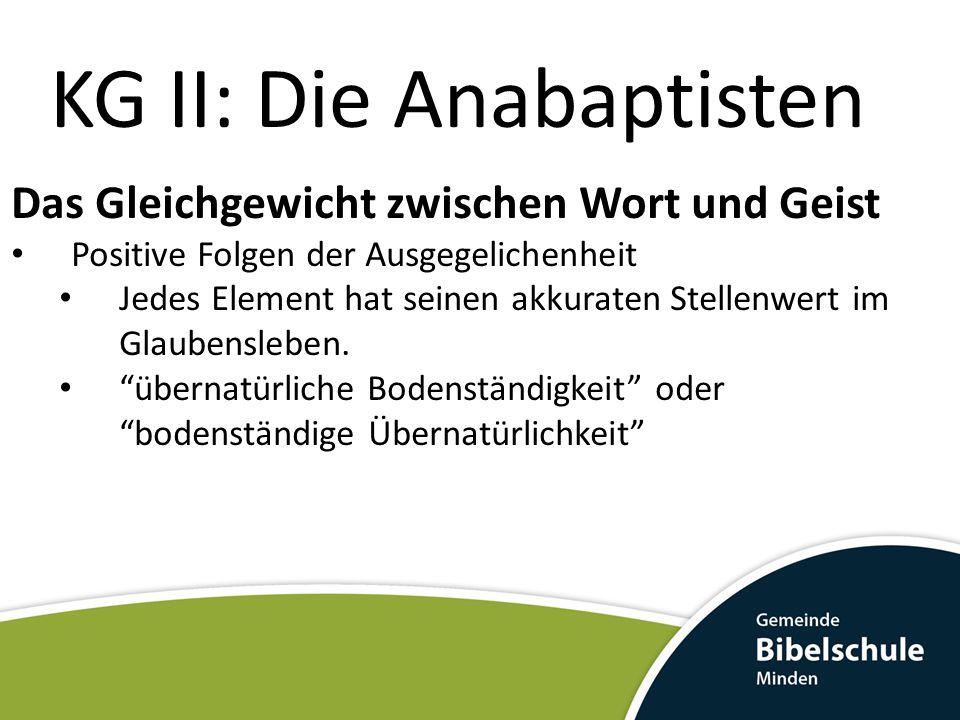 KG II: Die Anabaptisten Balthasar Hubmaier * 1485 in Friedberg bei Augsburg; † 10.