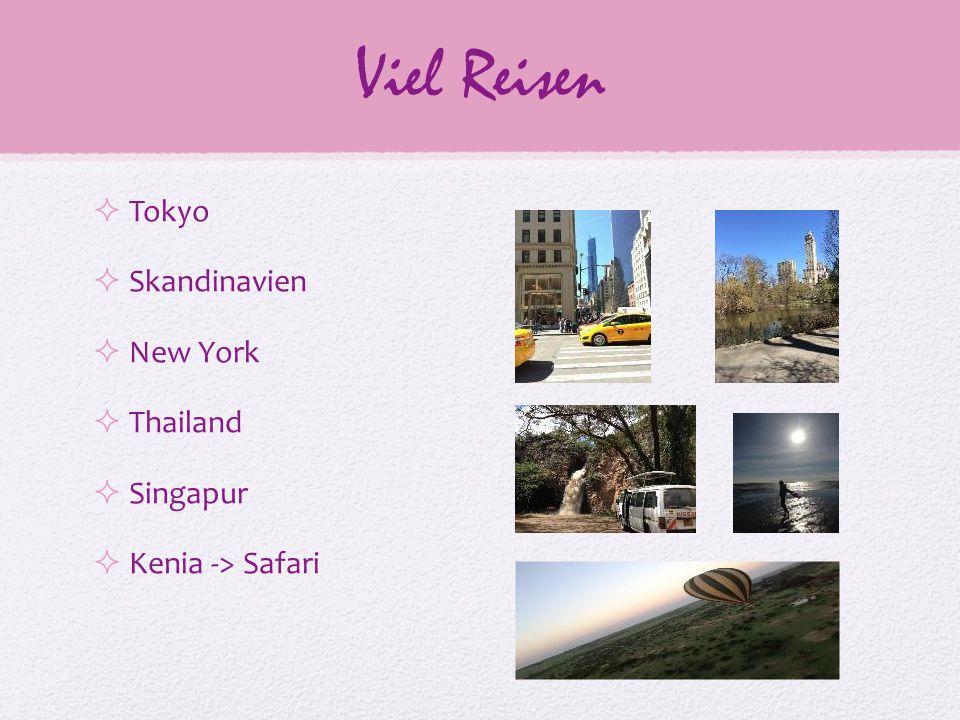 Viel Reisen  Tokyo  Skandinavien  New York  Thailand  Singapur  Kenia -> Safari