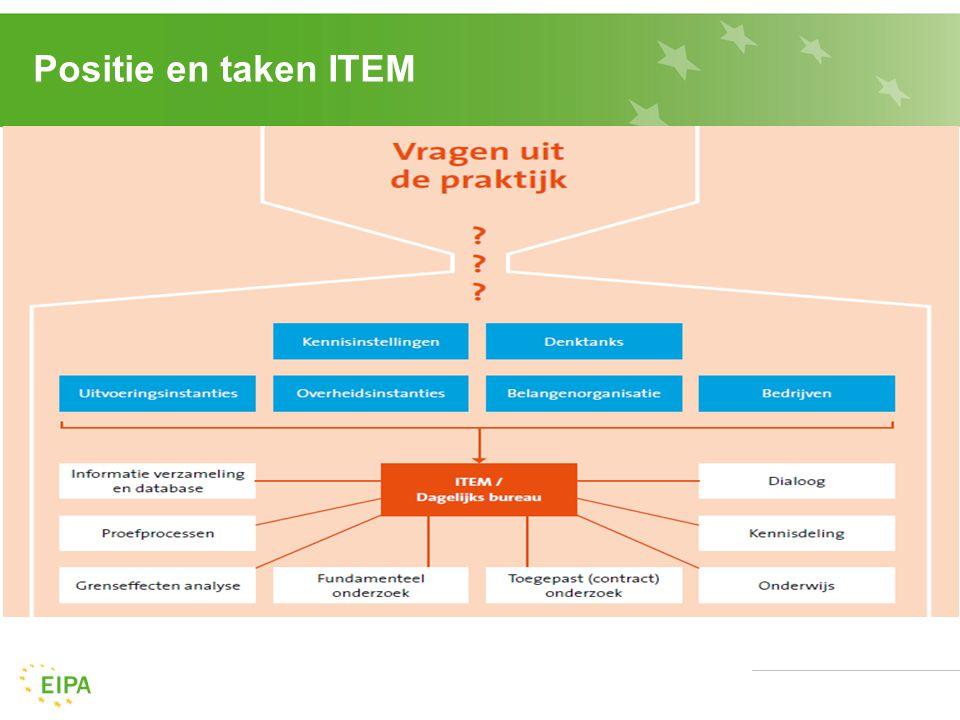 Positie en taken ITEM