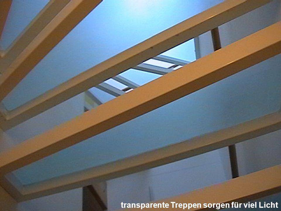 transparente Treppen sorgen für viel Licht