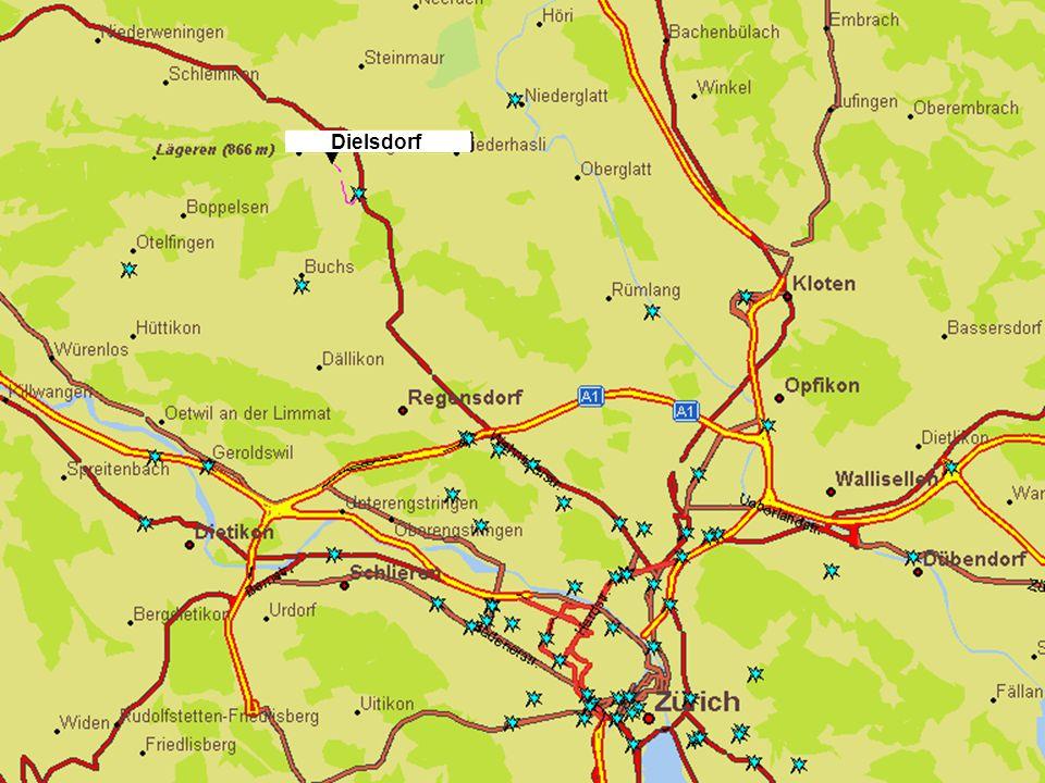 Lage Dielsdorf liegt im Zürcher Unterland eingebettet in eine ländliche Umgebung.