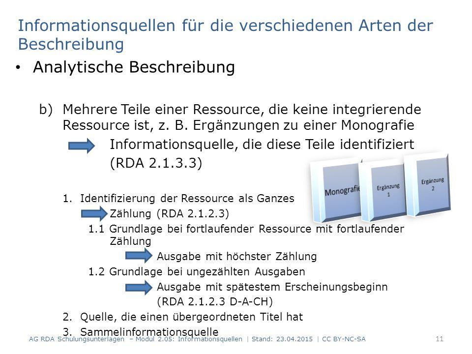 Analytische Beschreibung b)Mehrere Teile einer Ressource, die keine integrierende Ressource ist, z.